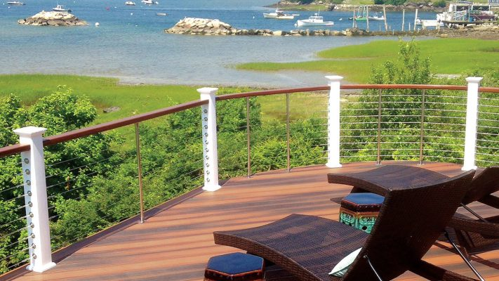 Cable Railing with Unobstructed Water View